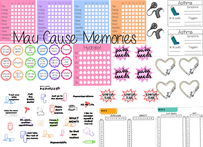 Sticker sheets for tracking most aspects of health and chronic conditions
