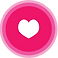 Heart Rate Monitor Logo, a small white heart in a pink circle that fades out at the edges