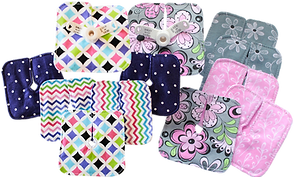 2 batches of coordinated tube pads in a variety of colors and patterns.