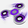 Fidget Spinner Logo, a purple and black figet spinner in motion on a white background