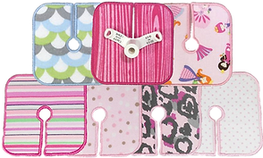 2 rows of trach pads, 3 on top and  4 on teh bottom in a variety of patterns.