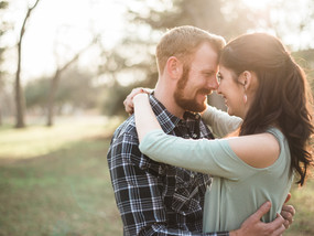 Adam and Caleigh | Prairie Creek Park Engagement