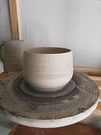 Atelier d'Escampette, Tournage saladier porcelaine