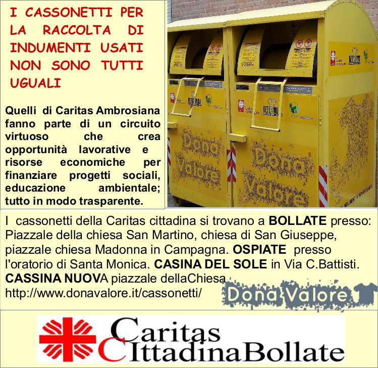 Caritas Per Raccolta Cassonetti Usati Vestiti kPuTOZiX