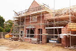 Building Site With House Under Construct