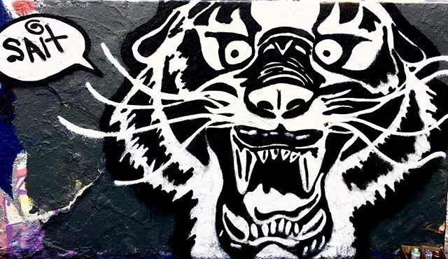 Sprayed a digital drawing I had done a l