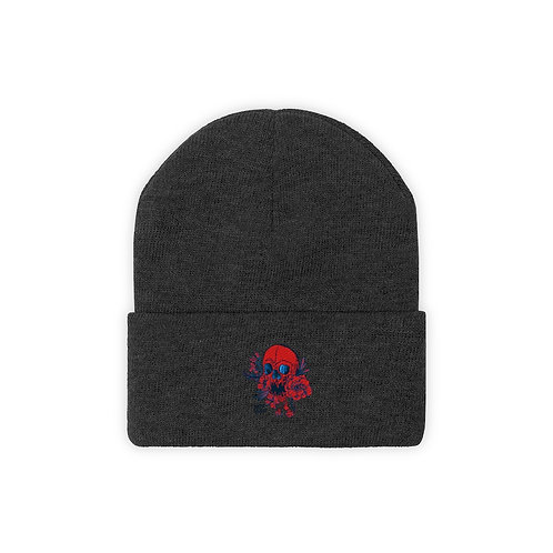 Inked Red - Knit Beanie