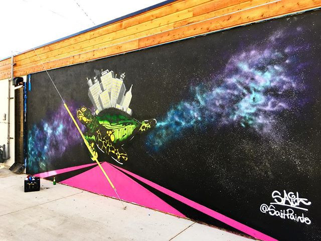 Finished my mural, very happy with it! M