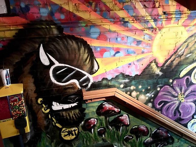 Half of the mural _engelwood316 and I wo