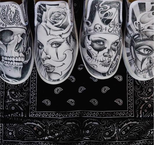 Bucketfeet R.J Tattoo Collabo
