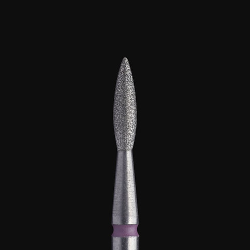 """FA11R021/8  DIAMOND NAIL DRILL BIT, POINTED """"FLAME"""", RED,"""