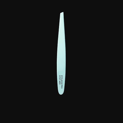 EXPERT  TE-65/4  Eyebrow Tweezers (slant, blue)