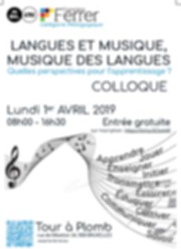 Colloque musique et langage HEFF