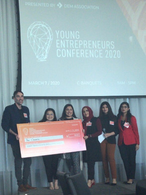 March 7, 2020: Aimee wins first place at the Young Entrepreneurs' Conference!