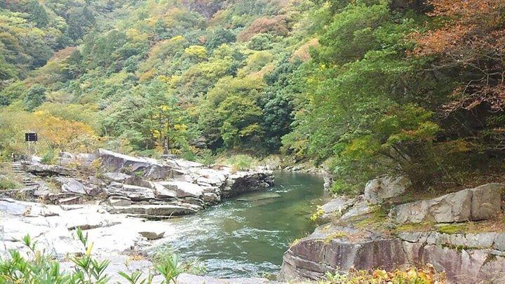初秋の奥津渓