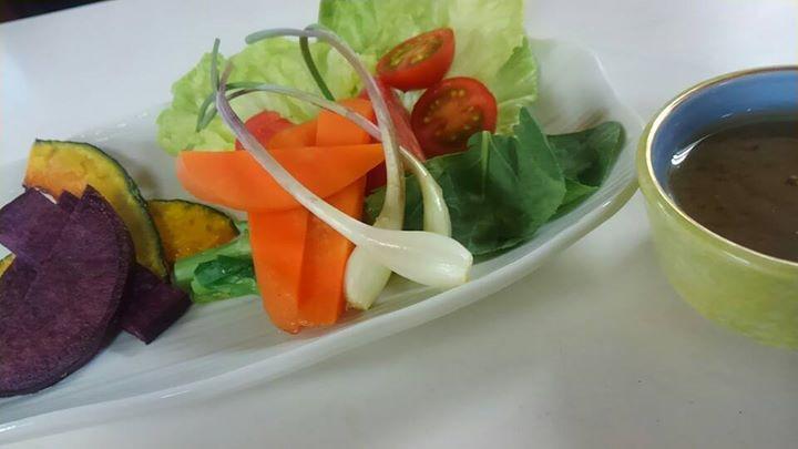岡山県鏡野町の新鮮な野菜が嬉しくありがたいですね♪__鏡野野菜のバーニャカウダ__今後共、里山レストランーAelu-__宜しくお願いします♪
