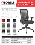 Lorell Flyer Mesh-Back Chair with Seat C