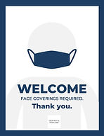 Snap Plate - Face Coverings Signage- Edi