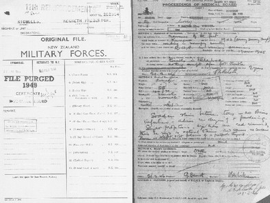 How to find WWII service records and records from later conflicts.