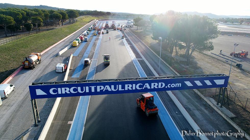 Circuit Paul Ricard - Ligne droite du Mistral.