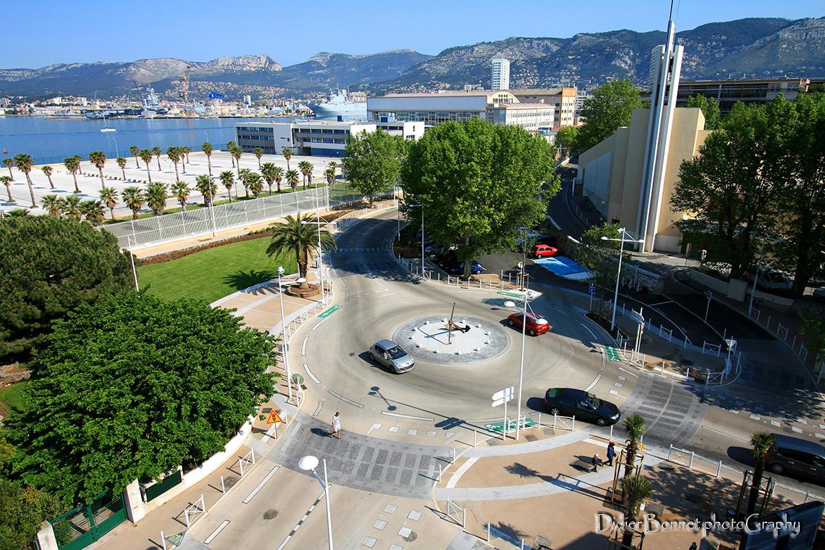 Giratoire Polygone - Toulon.