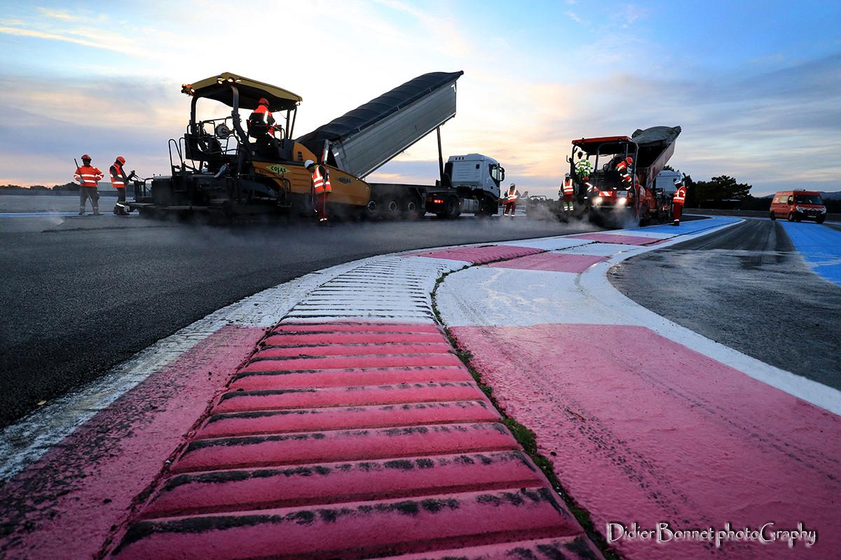 Nouveaux enrobés au circuit Paul Ricard.