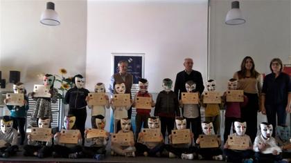 laboratorio decorativo maschere al Gap