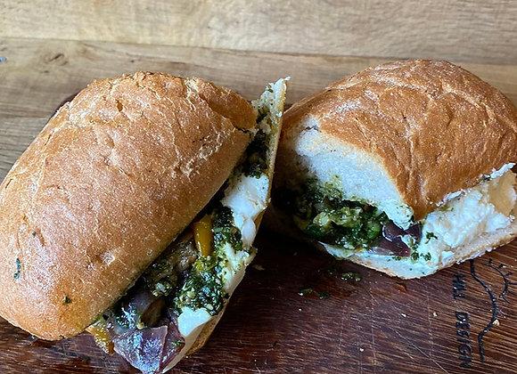 Roast Vegetable & Goats Cheese Ciabatta
