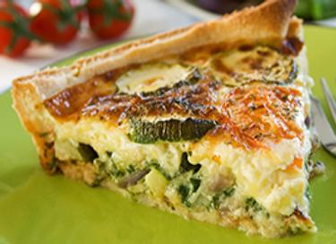 Vegetarian Quiche Slice