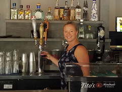 Cassie Rogerson pouring Opening Weekend