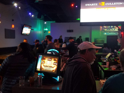 Bar games and stage view