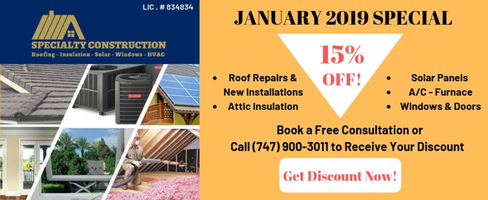 Specialty Construction Best Of Home Advisor, General Contractor Los Angeles, Roofing Contractor Los Angeles, Roof, Roofers Near Me, Roofer In My Area, Local Roofers, Best Roofing Company Los Angeles, Tile Roof, Shingle Roof, Single Ply Roof, Roof Repair, Roof Leaks, Attic Insulation Installer, Blown In Insulation, Solar Panels Installation, HVAC Units Installation, Energy Efficient Windows and Patio Doors Installations and Replacement, Genuine and Synthetic Slate Roof, Metal Roof, Fix My Leak