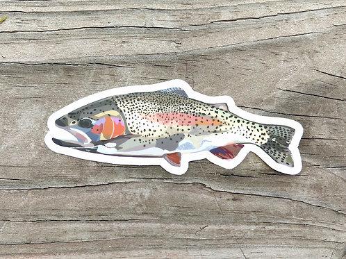 Rainbow Trout Matte Vinyl Sticker