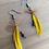 Thumbnail: Yellow Fly Fishing Earrings