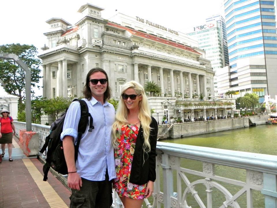fullerton, fullerton hotel, singapore, america's next top model, winner, whitney, whitney thompson, model, plus model, curve, husband, wife, couple, travel, travel blog, asia