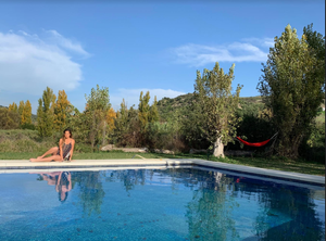 pool, finca vegana, model, beauty, antm, winner, whitney, vegan, relax, travel, breathe, lounge, water, spain, zahara, wanderlust, whitney's wanders