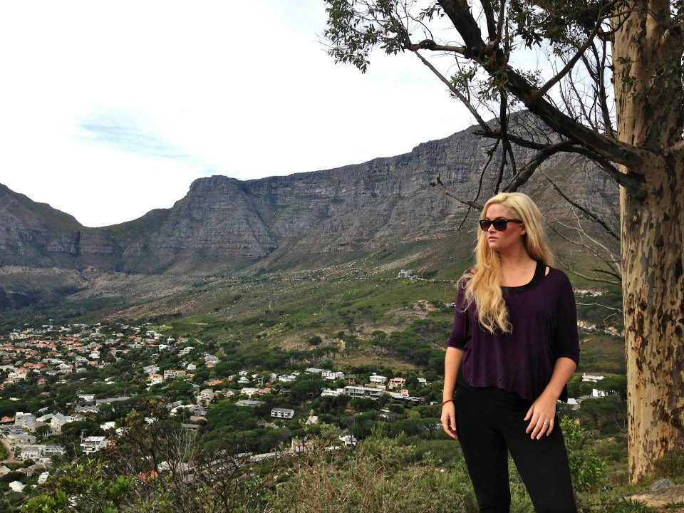 whitney, whitney's wanders, travel, south africa, table mountain, model, beach, antm, plus model, curve, blonde, africa, south africa, america's next top model, winner