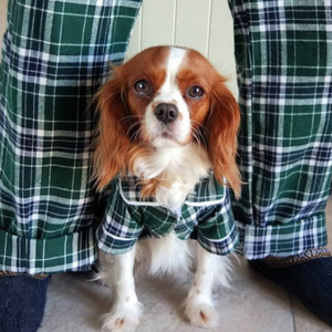 plaid, dog, pajamas, matching, gift, depression, friends, dog lover, dog mom, whitney's wanders, blogger, nashville, model