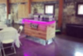 rustic wooden pallet bar rental