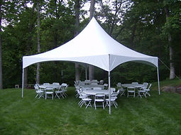 "20x20 Wedding Tent 60"" Round Tables"