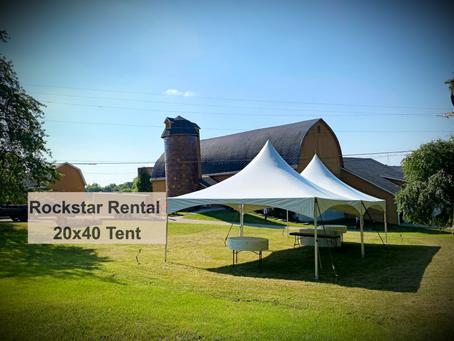 Tent Set Up At A Barn In Leonard Michigan
