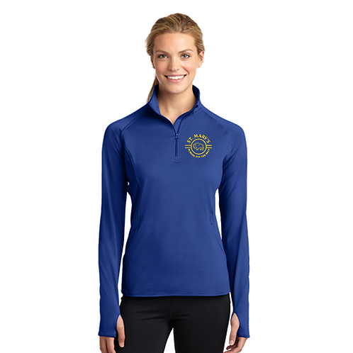 SMSD 1/4 Zip Sweatshirt w/ Embroidered Left Chest