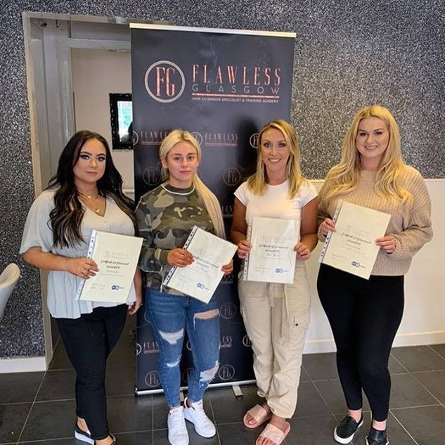 Well done ladies. 5 newly qualified hair