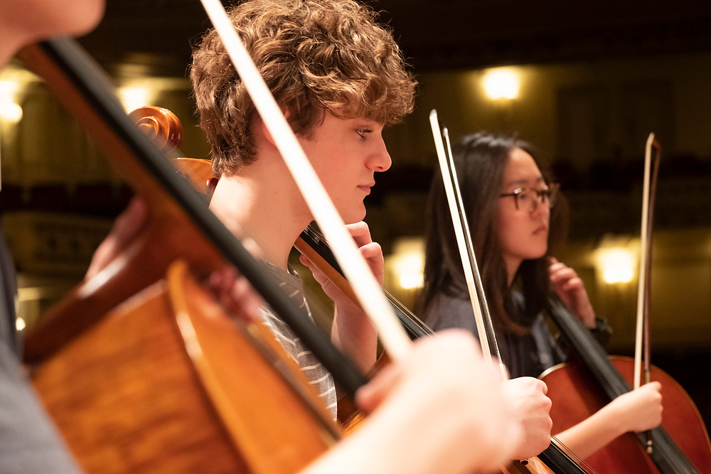 Youth Orchestra musicians in rehearsal