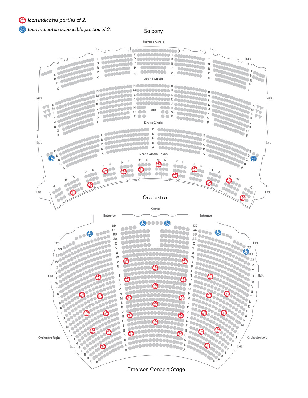 The SLSO's socially distanced seat map