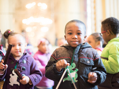 Pre-K Students Get Take-Home Instruments Thanks to SLSO, volunteers