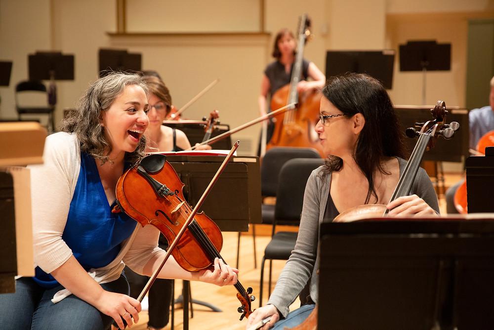 Beth Guterman Chu in rehearsal SLSO