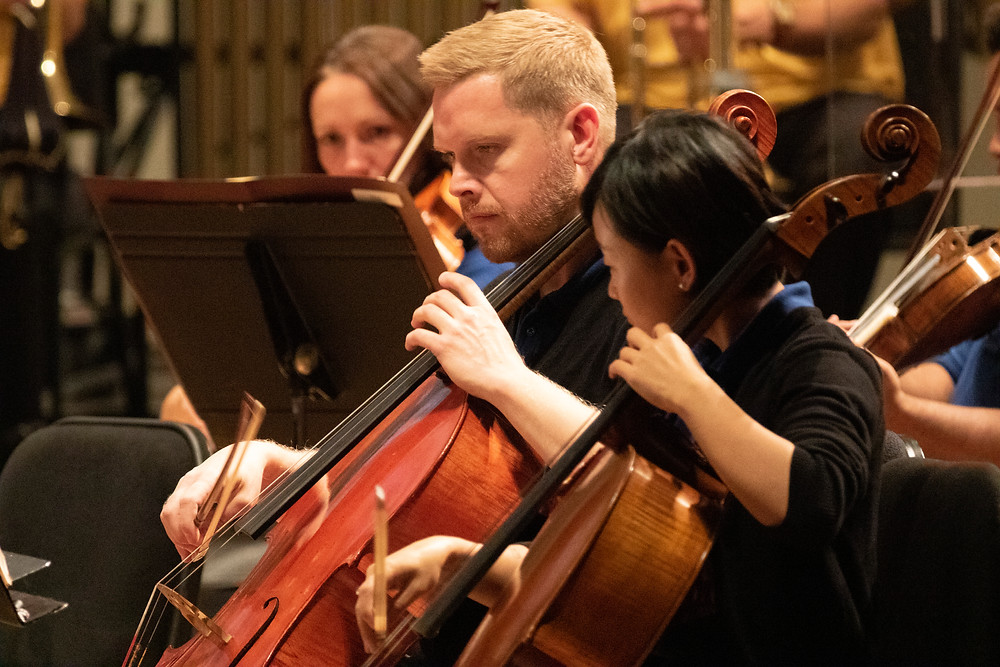 Bjorn performs during one of the SLSO's family concerts