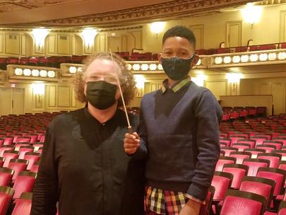Stéphane Seats Makes Budding Conductor's Dream Come True