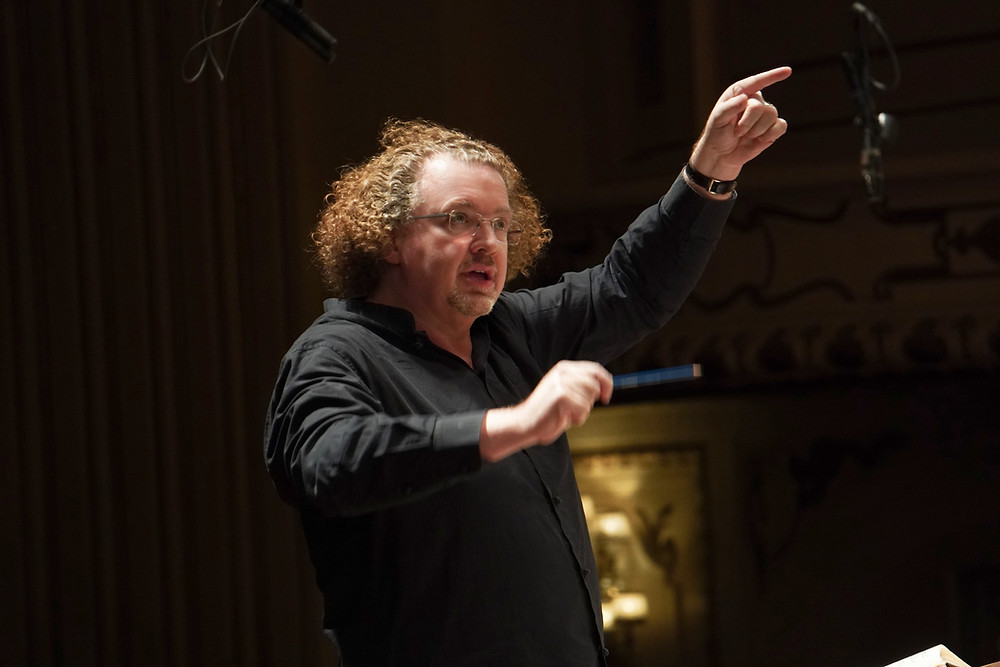 Stéphane rehearsing The Damnation of Faust with the St. Louis Symphony Chorus, two days prior to the performance being canceled